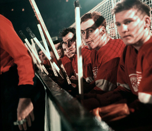 Gordie Howe sits next to Red Wings teammate Red Kelly during a game against the New York Rangers in December 1954. Although just 26 at the time, Howe was already in his ninth NHL season. Detroit won its second straight Stanley Cup that season as Howe made his eighth straight All-Star team. In all, he won four Stanley Cups and made 23 NHL All-Star teams during his career. (Hy Peskin/SI) GALLERY: Rare Photos of Gordie Howe