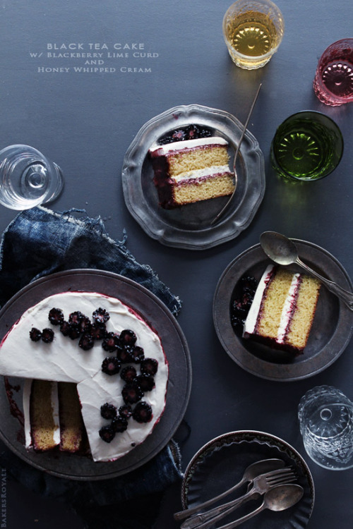 gastrogirl:  black tea cake with blackberry lime curd and honey whipped cream.  Stop. Stop whatever you're doing and just droooool