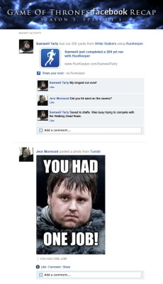 if Game of thrones took place on social mediahttp://www.happyplace.com/22775/game-of-thrones-facebook-recap-season-3-episode-1