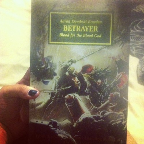 And so I start a new book~ <3 #warhammer40k #TheHorusHeresy
