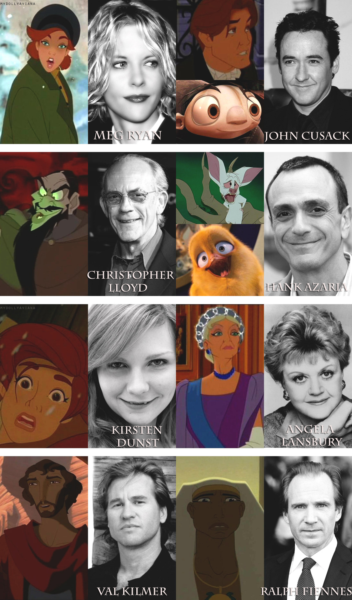 ask-the-tooth-fairy:  mydollyaviana:  Non-Disney animation & their voice actors/actresses