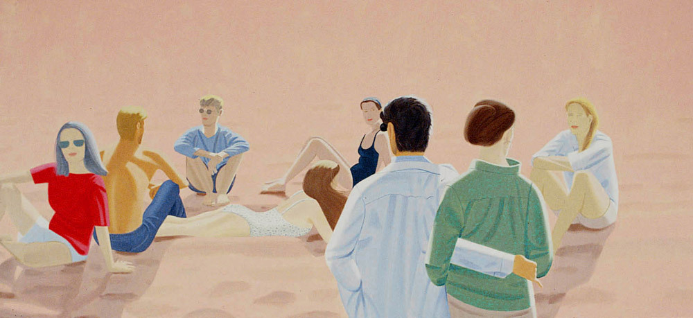 Alex Katz, Lincolnville, Labor Day 1992 Oil on canvas 290 x 579 cm