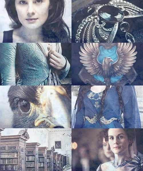 alayneclegane:  Michelle Dockery as Rowena Ravenclaw  Or yet in wise old Ravenclaw,If you've a ready mind,Where those of wit and learning,Will always find their kind.