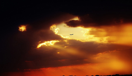 sunset and airplane 8 20  2012 ! by fotogjohnh!! Photostream…355,000 views!! on Flickr.