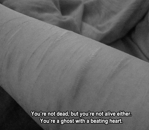 just a ghost with a beating heart. | via Tumblr on @weheartit.com - http://whrt.it/WEwVJy
