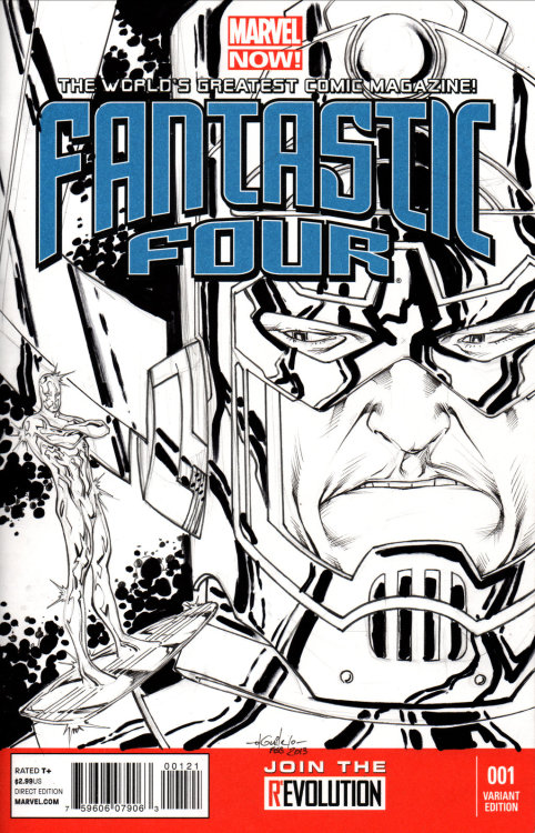 brianbuster:  Fantastic Four #1 (Galactus sketch) by *SpiderGuile  smdhjdfklaghsfd Galactus' face I am slain Gettin' real tired of your shit, Norrin