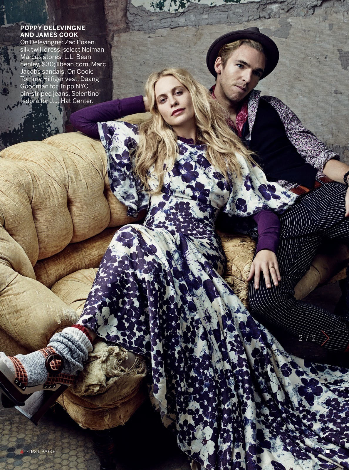 poppy delevingne wearing zac posen in the february issue of vogue us