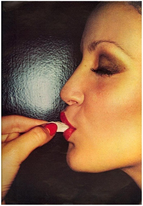 Jerry Hall by Helmut Newton. 1974