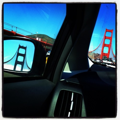 Sunny commute over the Golden Gate #sanfrancisco #sf #goldengatebridge
