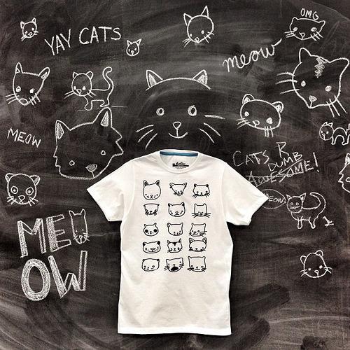 Drunken Cat Drawings by Jillian Fisher (via flickr via threadless)
