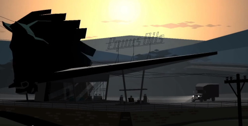"kickstarter:  Lonesome highway.Great news from the gaming world this morning: Kentucky Route Zero, our favorite magical-realist adventure game about a secret highway in Kentucky and its mysterious travelers, is finally available to play. Check out Act 1 here.   Act 1 of 5 is now out for Windows and Mac. I'm intrigued by this, but I'll be holding out for the Linux version (promised ""soon"") before I move on this. If you're bold enough to give this point-and-click a spin, be sure to share your impressions with me!"