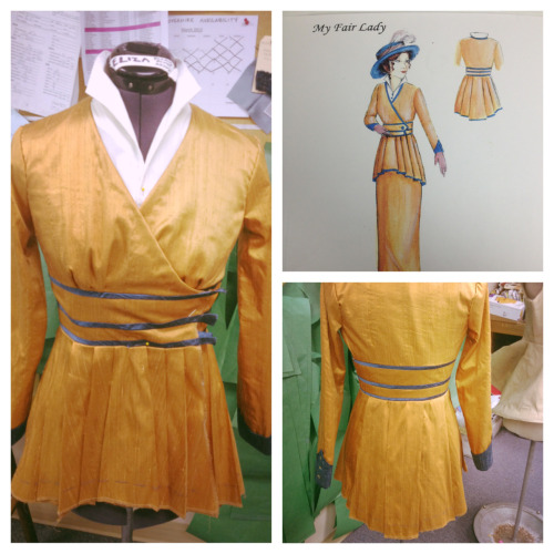 One of my favorite costume pieces for My Fair Lady is very near completion! -Christina, Costume Shop Manager