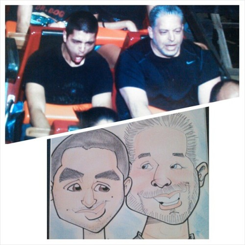 Had a great day at Six Flags with my dad and the CFA crew! Happy birthday dad! Hope you enjoyed it!