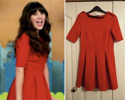 New Girl 2x22 | Bachelorette Party | Jess Day Zara Pleated Skater Dress - £6.99 (Ebay size XS)