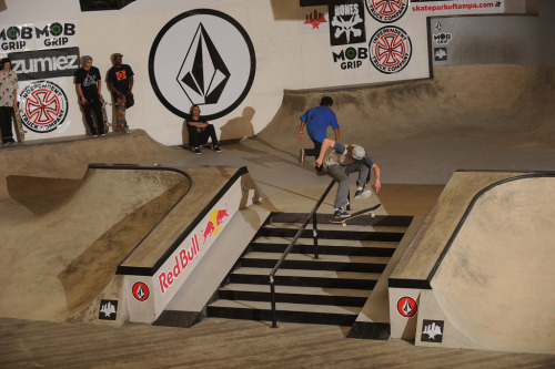 Wub Wheels team rider Teva Barnea throwing down a tre flip at Volcom Damn Am in Costa Mesa.  Big ups to Teva Barnea, Eric Jones, and Lamont Holt for there showing in this years event.