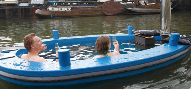 Wood-fired hot tub doubles as a boat for touring on the open water If movie buffs can watch their favorite films while soaking in a relaxing hot tub, then why shouldn't boating enthusiasts be afforded a similar luxury? That's where HotTug comes in, with a wood-fired hot tub that doubles as a boat for cruising on the open water. READ MORE…