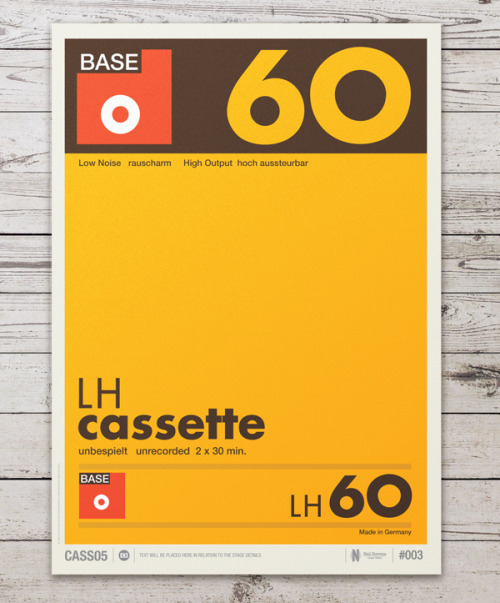 Don't Forget the Cassette, posters by Neil Stevens.