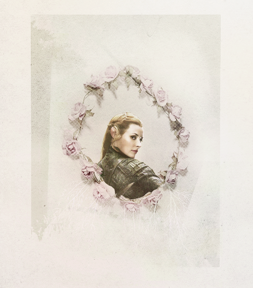 Tauriel 'Woodland daughter', a Silvan Elf of Mirkwood. She is a warrior and the head of the Elven guard of Mirkwood. She knows how to wield any weapon, but the primary weapons that she uses are a bow and arrow and two daggers. She is described as lethal and deadly.
