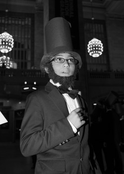 timothybriner:  4th Grader as Abraham Lincoln, Grand Central Station, New York, NY, 2013.  View more at The New York Times Magazine Blog  A wonderful tribute to Abraham Lincoln on his birthday