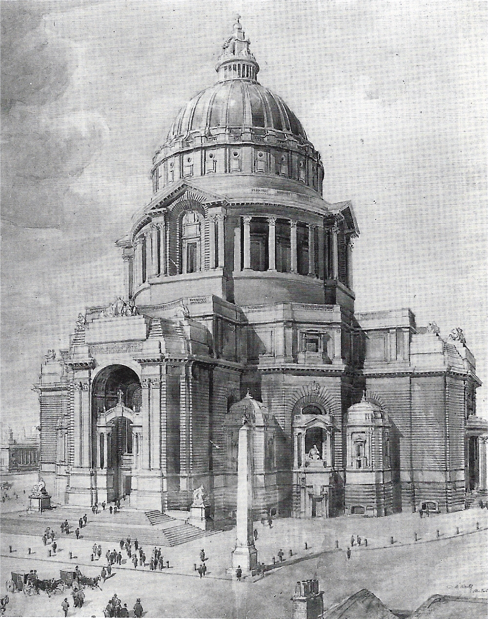 Reilly's design for the Cathedral in 1902, Liverpool