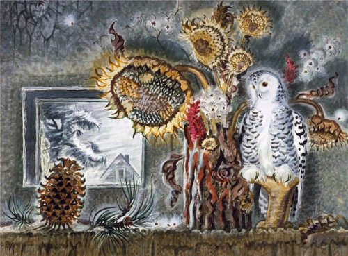 dappledwithshadow:  Still Life in Winter - Charles Burchfield