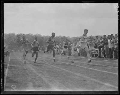 High school track meet by Boston Public Library on Flickr.