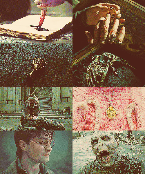 -rowling:   Harry Potter + Horcruxes   Asked by Anonymous