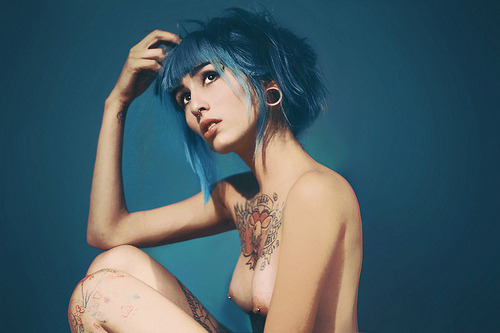 walkalonglonelyroad:  Beautiful Alternative Girls - inkeddolls: Sophie Latrouche (by Michel Omar… on We Heart It. http://weheartit.com/entry/17770195/via/let_