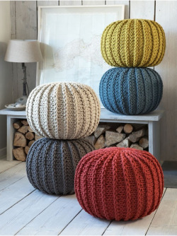 Knitted Poufs by Nordic House