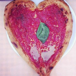 Heart-shaped pizza #LOVEATFIRSTSIGHT
