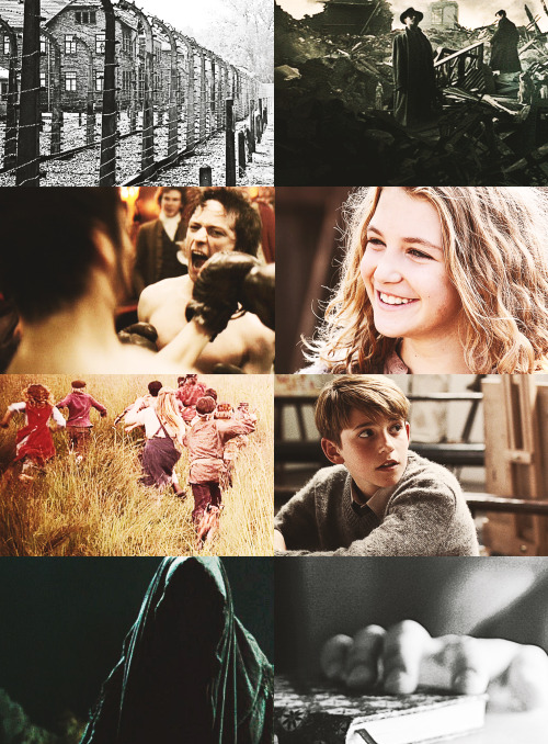 teamclaraforthewin:   Underrated Books - The Book Thief by Markus Zusak A small but noteworthy note. I've seen so many young men over the years who think they're running at other young men. They are not. They are running at me.  THIS IS GOING TO BE A MOVIE IN 2014??!?!?!?!?!?!?! WHY DID NO ONE INFORM ME?!?!? THIS IS MY ALL TIME FAVORITE BOOK.
