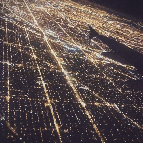 Besides looking down at the city, the stars were also exceptional from this height.  #chicago #citylights #night #above http://ift.tt/1t2XdFk