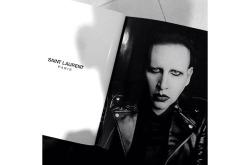 Marilyn Manson for Saint Laurent. I live and LOVE!