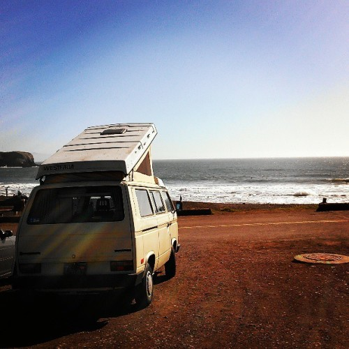 Cali surf bus. #california #beach (at Rodeo Beach)