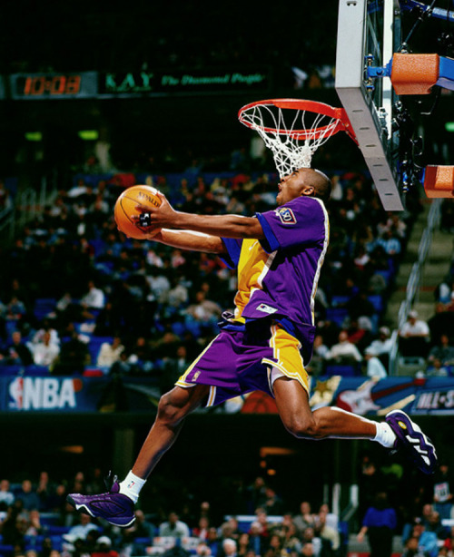 "osjosh:  kobe rocking the adidas ""eqt elevation"" back in the 97 slam dunk contest courtesy of solecollector"