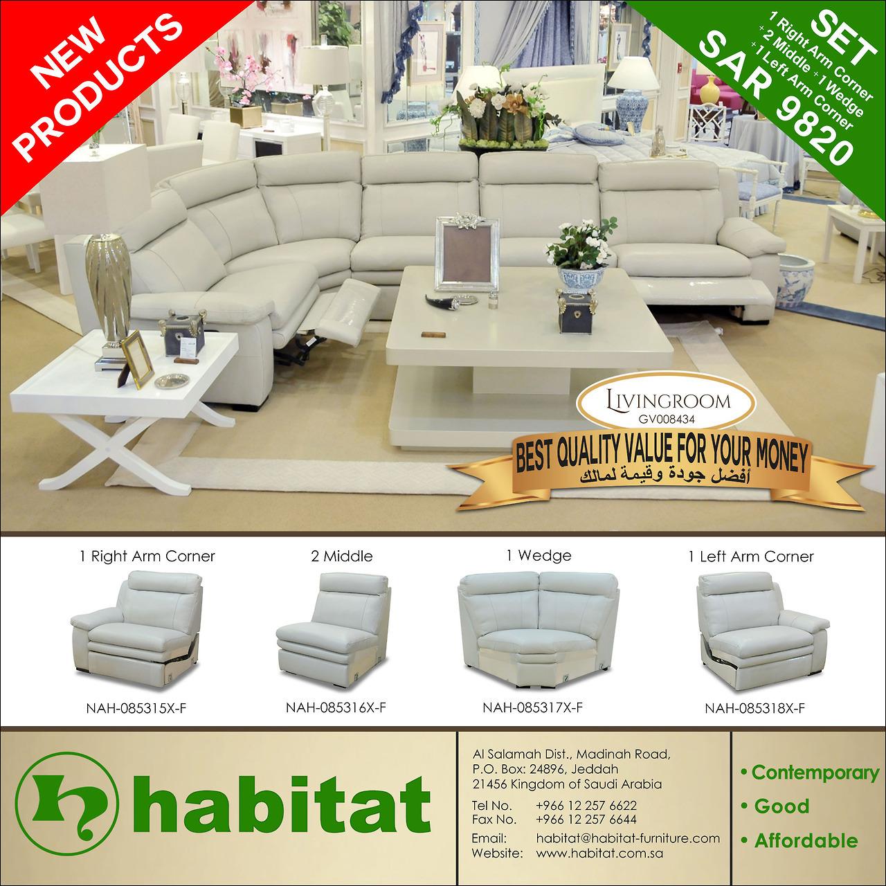 habitat-furniture - MODERN LIVING ROOM Website: www.habitat.com.sa Call or Visit our showroom +966 12 257 6622 - JEDDAH SHOWROOM +966 11 465 9877 -...