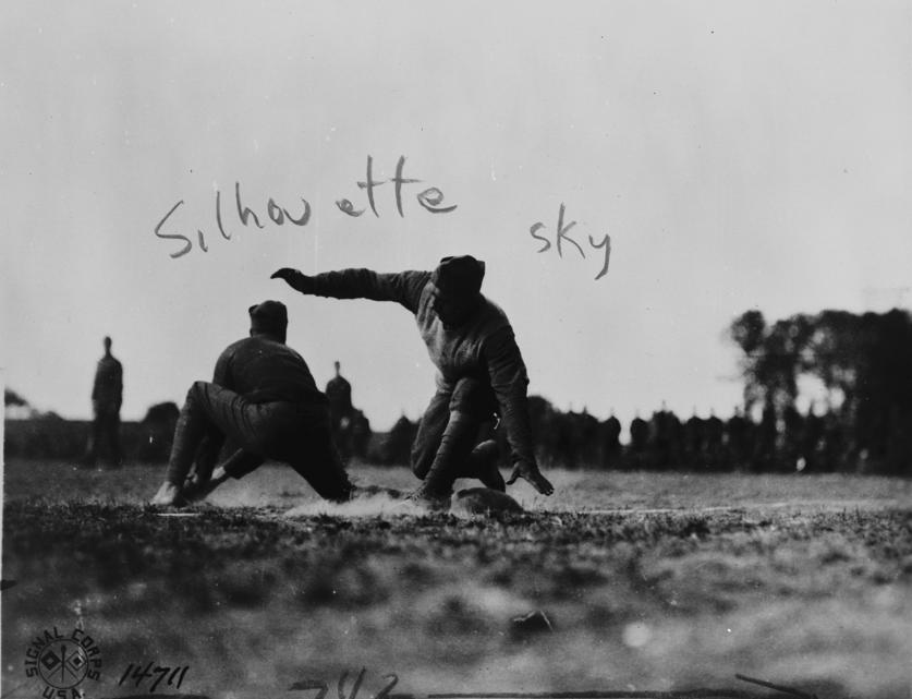 World War I soldiers playing baseball.  Source: http://www.trumanlibrary.org/photographs/view.php?id=14788