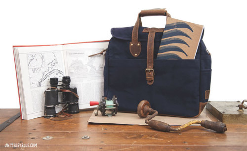 Lakeland Laptop Bag ($98) & Waves Notebook ($6) | United By Blue