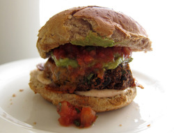 black bean burger by you can count on me on Flickr.
