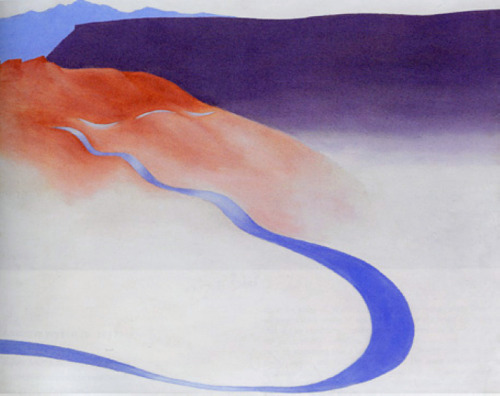 """Road to the Ranch"" ~ Georgia O'Keeffe."