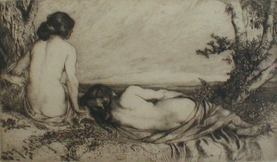 'Nymphs by the Sea'Etching by Charles Holroyd