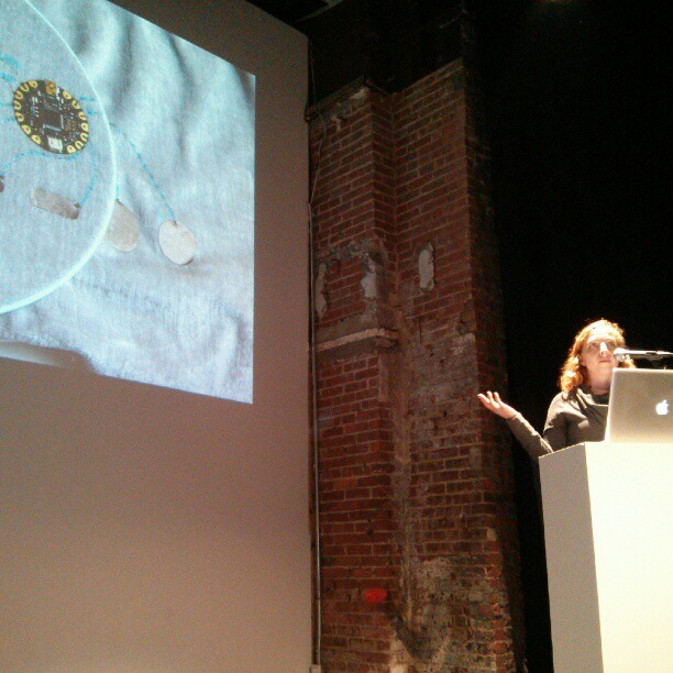 Fun smart textiles discussion at @eyebeamnyc, more computational fashion events coming through the year