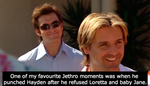I think that's everyone's favourite Jethro moment :)