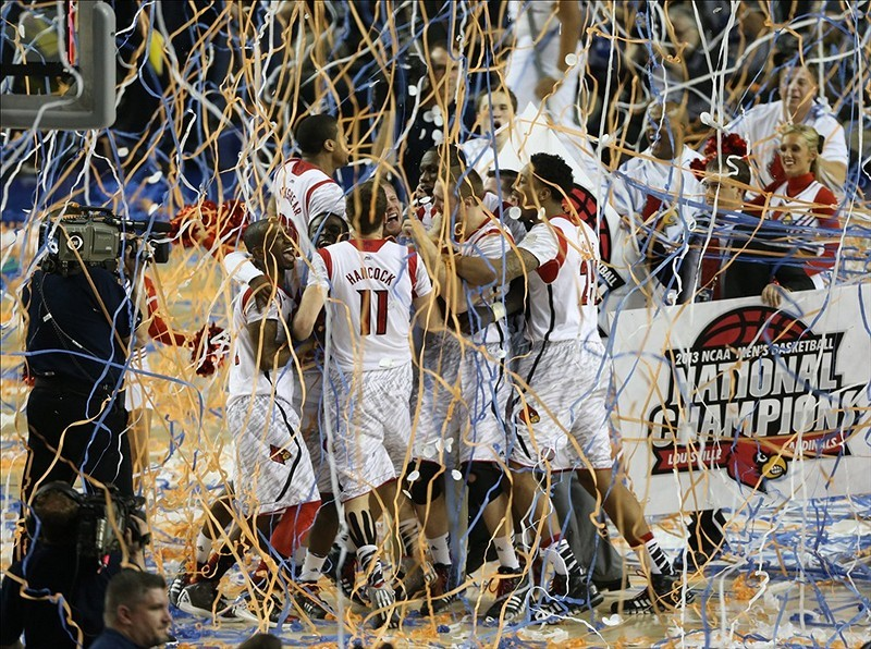 Watch live coverage from Louisville's national title celebration.