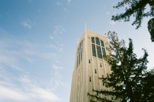 Burns Tower at University of the Pacific Stockton, CA Canon AE-1 Program. Fujifilm Superia X-TRA 400.