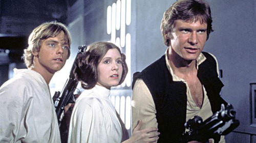 laughingsquid:  George Lucas Confirms Harrison Ford, Mark Hamill & Carrie Fisher's Return to Star Wars