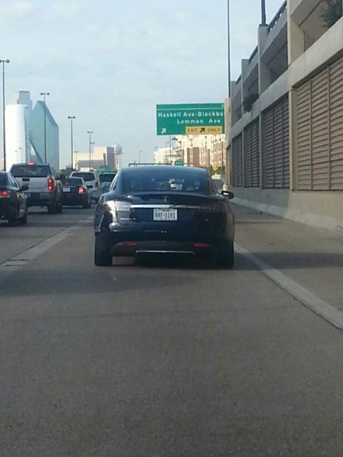 Followed a Tesla Model S into town this morning.. My lord, Elon Musk knows how to make a gorgeous car…