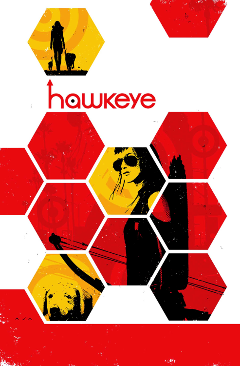 fuckyeahavengingarcher:   HAWKEYE #14MATT FRACTION (W) • Annie Wu (A)Cover by DAVID AJA• THAT THING THAT HAPPENED TO KATE IN THE ANNUAL IS TOTALLY FOLLOWED UP ON!• This one has it all! Characters! Plot! Story! Dialogue! Theme! Meaning! Message! Action! A little exposition! Fire! Arrows! Criminals! Neighbors! Large bodies of water! Clients! Cops who don't care! A system that victimizes the victims! The dog!• In a broken town where cynicism and apathy has its claws around the throat of the good and decent, LADY HAWKEYE is the only hero you can trust!32 PGS./Rated T+ …$2.99  Coming up in August… interior art by Annie Wu!