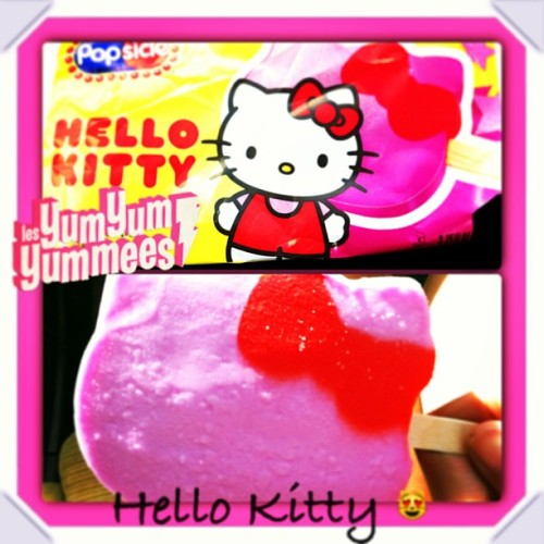 🍭🍓🍒 #hellokitty #yumyum #popsicle #strawberry #cherry #instagood #instacollage