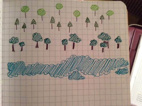 Tree doodles with the Marvy Le Pen. 10/11/2014